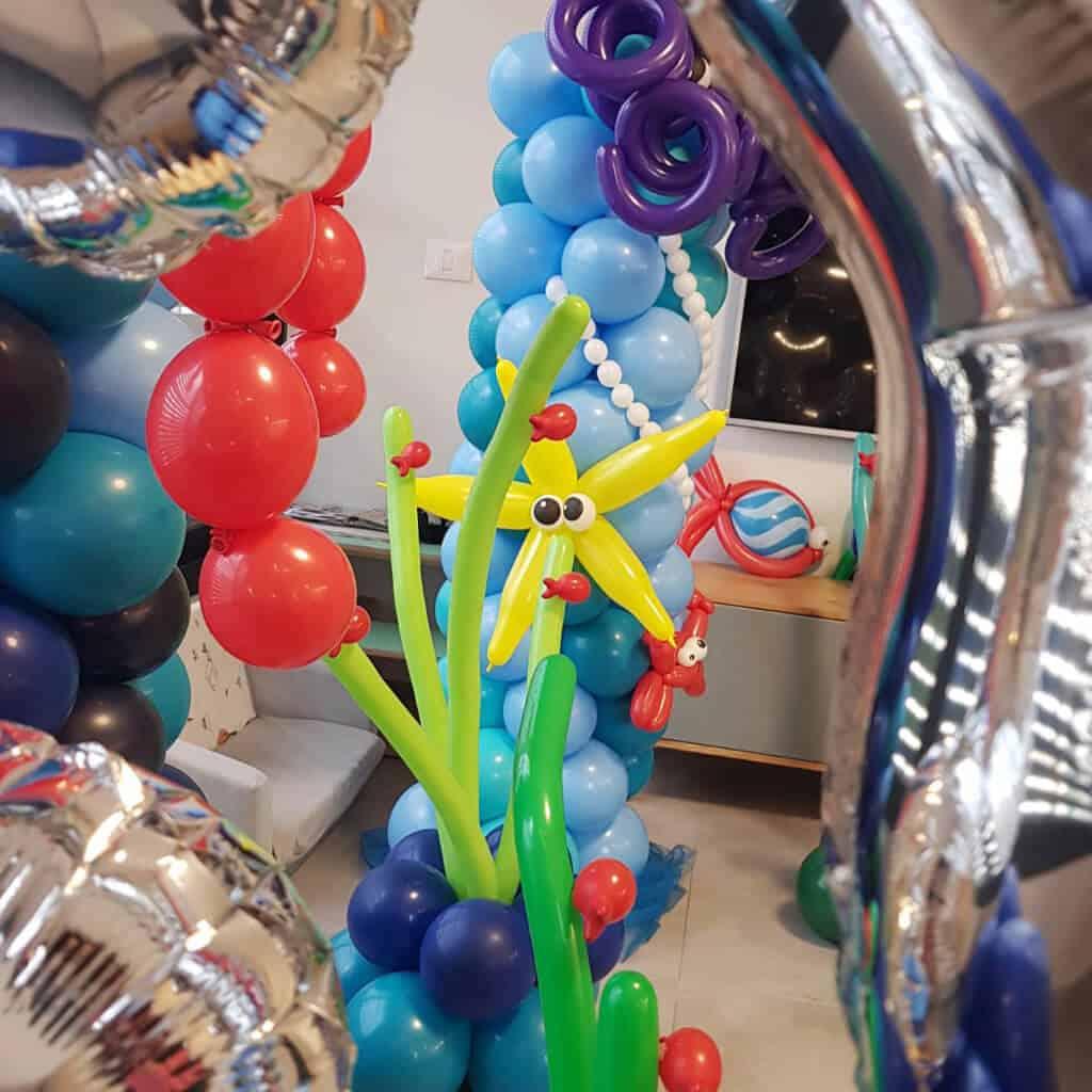 עיצוב בלונים לאירוע יום הולדת 35 של צוללן