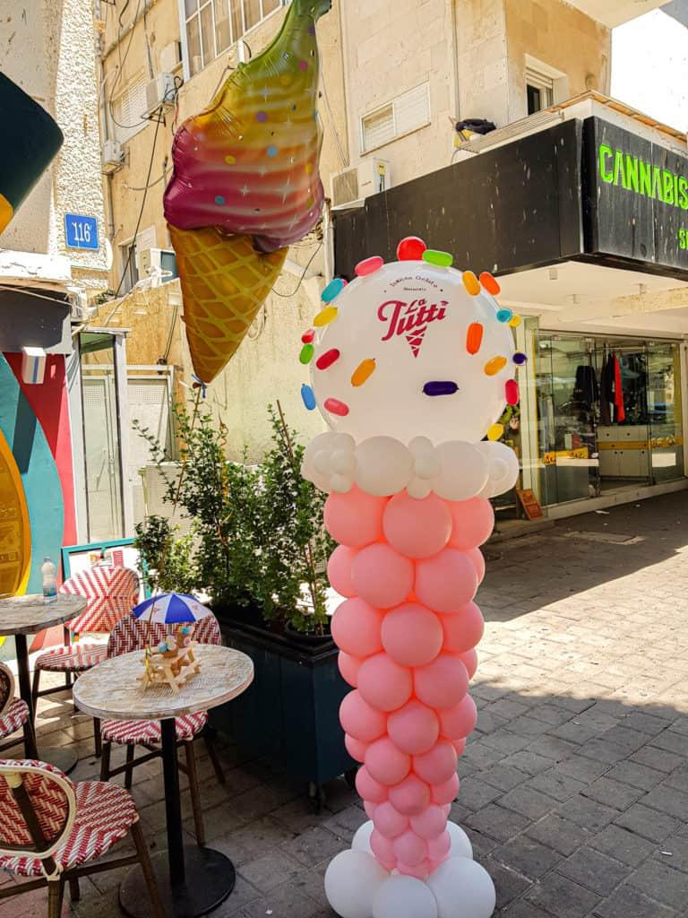 גלידה מבלונים