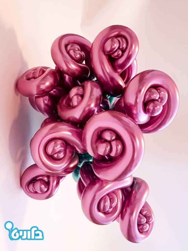 זר בלונים ורדים