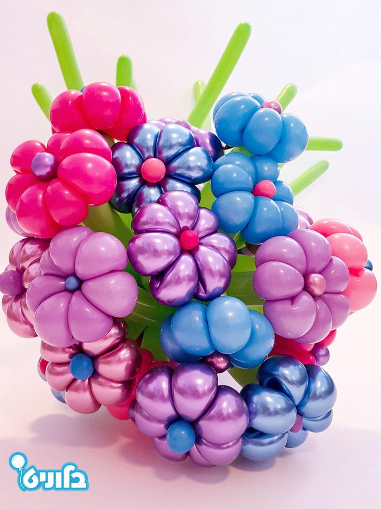 זר בלונים מפרחים